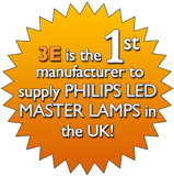 3E is the first manufacturer to supply PHILIPS LED MASTER LAMPS in the UK
